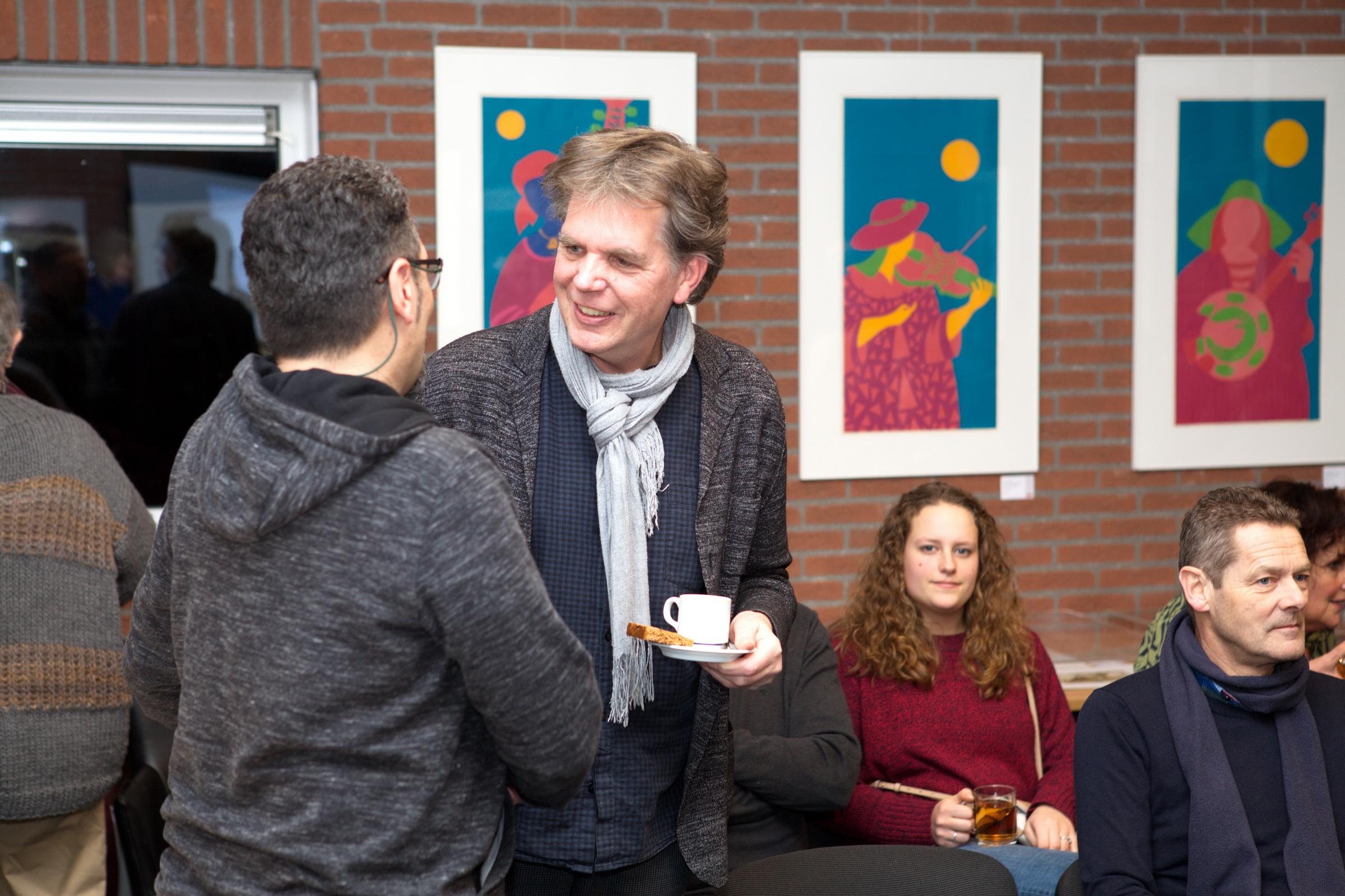 Opening Culturele Hoofdstad 26 januari 2018 in Fochteloo (Peter Lazarov en Peter Hiemstra)